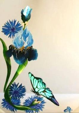Peinture sur miroir